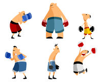 Six boxers set Royalty Free Stock Image