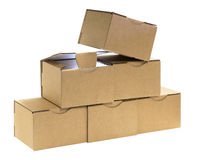 Six boxes Stock Images