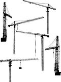 Six building cranes Royalty Free Stock Image