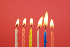 Six burning candles Royalty Free Stock Photos
