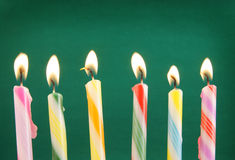 Six burning candles Royalty Free Stock Images