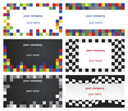 Six business cards Stock Image