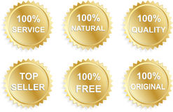 Six business promo stickers Royalty Free Stock Photos