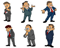 Six businessmen set Stock Photography