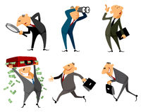 Six businessmen set Stock Images