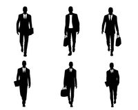 Six businessmen set. Vector illustration of a six businessmen set Stock Photo