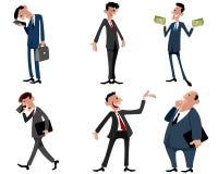 Six businessmen set Stock Photos