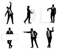 Six businessmen silhouettes Royalty Free Stock Photo