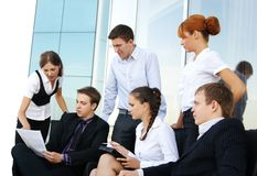 Six businesspersons working on a project Royalty Free Stock Image