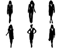 Six businesswomen posing. Vector illustration of a six businesswomen posing Royalty Free Stock Photos