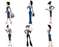 Six businesswomen set Stock Image