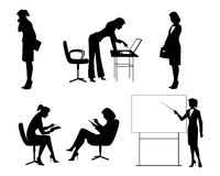 Six businesswomen silhouettes Royalty Free Stock Image