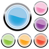 Six buttons for web (vector). Buttons for a web or icon for a computer Stock Illustration
