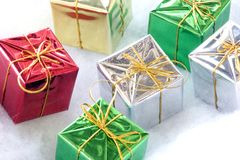 Six cadeaux Photographie stock libre de droits