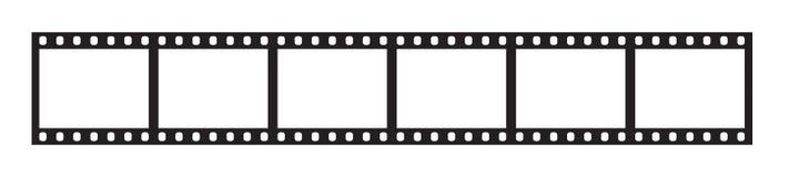 Six cadres de bande de film de 35 millimètres Photo stock