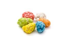 Six cailloux colorés de Danube Images stock