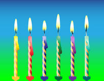 Six Candles Royalty Free Stock Photography