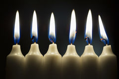 Six candles Stock Photography