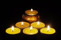 Six candles still life Royalty Free Stock Photos