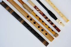Six cannelures en bois Photographie stock libre de droits