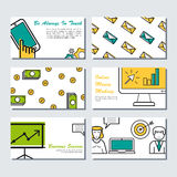 Six card template - business banners Stock Images