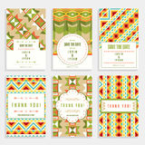 Six Cards With Geometric Ornaments Royalty Free Stock Photo