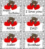 Six celebration cards Royalty Free Stock Photos