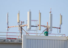 Six cellular towers Stock Images