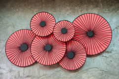 Six cercles rouges Image stock