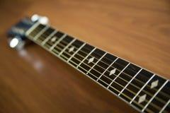 Six chaînes de caractères de guitare Images stock