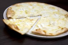 Six cheese pizza. Stock Image