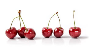 Six Cherries Stock Image
