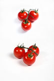 Six cherry tomatoes Stock Images