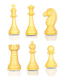 Six chess figures Royalty Free Stock Photo