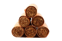 Six cigares dans des caches Image libre de droits