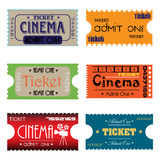 Six cinema tickets Stock Photo
