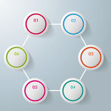 Six Circles Hexagon Infographic Design Royalty Free Stock Images