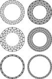 Six circular abstract design elements Royalty Free Stock Image