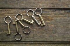 Six clés photographie stock