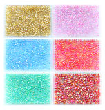 Six color bead in box Stock Photos