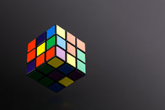 Six color cube puzzle Royalty Free Stock Images