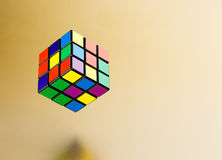 Six color cube puzzle Stock Photography