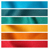 Six color fabric texture sample Stock Image