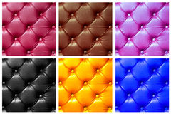 Six color leather hammering Stock Images
