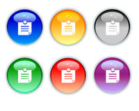 Six color note icons buttons Royalty Free Stock Image