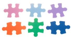 Six color puzzle blocks Stock Image