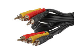 Six color RCA connectors Royalty Free Stock Images