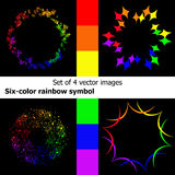 Six-colored rainbow symbol Stock Photography