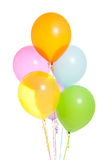 Six Colorful Balloons Isolated Stock Image