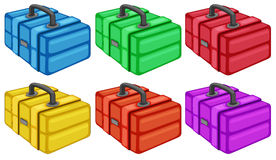 Six colorful boxes Royalty Free Stock Photo